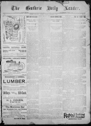Primary view of object titled 'The Guthrie Daily Leader. (Guthrie, Okla.), Vol. 9, No. 17, Ed. 1, Saturday, December 19, 1896'.