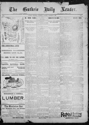 Primary view of object titled 'The Guthrie Daily Leader. (Guthrie, Okla.), Vol. 9, No. 20, Ed. 1, Wednesday, December 23, 1896'.