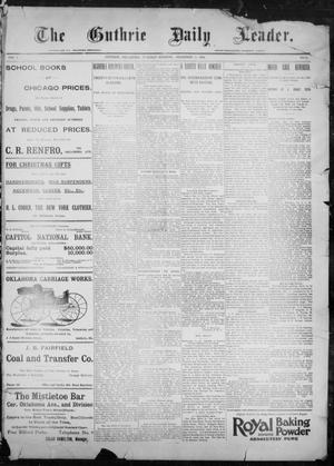Primary view of object titled 'The Guthrie Daily Leader. (Guthrie, Okla.), Vol. 9, No. 24, Ed. 1, Tuesday, December 29, 1896'.
