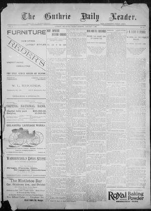 Primary view of object titled 'The Guthrie Daily Leader. (Guthrie, Okla.), Vol. 9, No. 32, Ed. 1, Friday, January 8, 1897'.