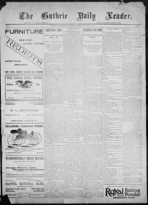 Primary view of object titled 'The Guthrie Daily Leader. (Guthrie, Okla.), Vol. 9, No. 33, Ed. 1, Saturday, January 9, 1897'.