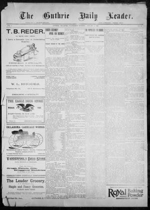 Primary view of object titled 'The Guthrie Daily Leader. (Guthrie, Okla.), Vol. 9, No. 36, Ed. 1, Wednesday, January 13, 1897'.