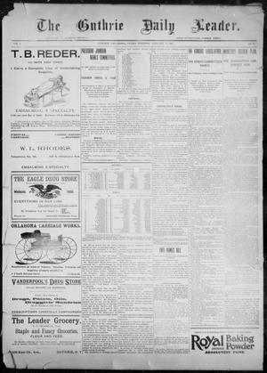 Primary view of object titled 'The Guthrie Daily Leader. (Guthrie, Okla.), Vol. 9, No. 38, Ed. 1, Friday, January 15, 1897'.