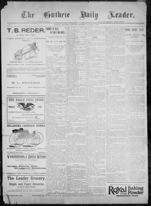 The Guthrie Daily Leader. (Guthrie, Okla.), Vol. 9, No. 39, Ed. 1, Saturday, January 16, 1897