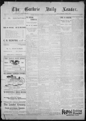 Primary view of object titled 'The Guthrie Daily Leader. (Guthrie, Okla.), Vol. 9, No. 41, Ed. 1, Tuesday, January 19, 1897'.