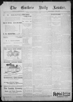 Primary view of object titled 'The Guthrie Daily Leader. (Guthrie, Okla.), Vol. 9, No. 43, Ed. 1, Thursday, January 21, 1897'.
