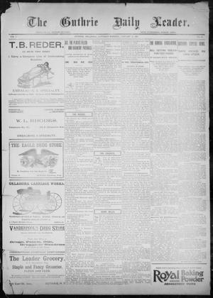Primary view of object titled 'The Guthrie Daily Leader. (Guthrie, Okla.), Vol. 9, No. 45, Ed. 1, Saturday, January 23, 1897'.