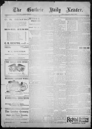 Primary view of object titled 'The Guthrie Daily Leader. (Guthrie, Okla.), Vol. 9, No. 46, Ed. 1, Sunday, January 24, 1897'.