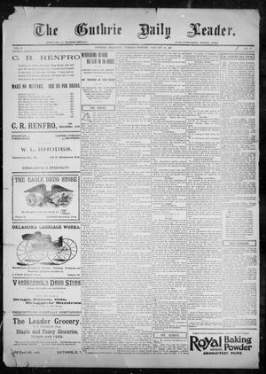 Primary view of object titled 'The Guthrie Daily Leader. (Guthrie, Okla.), Vol. 9, No. 47, Ed. 1, Tuesday, January 26, 1897'.