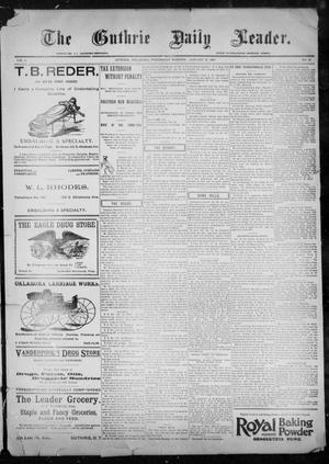 Primary view of object titled 'The Guthrie Daily Leader. (Guthrie, Okla.), Vol. 9, No. 48, Ed. 1, Wednesday, January 27, 1897'.