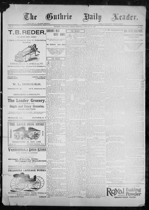 Primary view of object titled 'The Guthrie Daily Leader. (Guthrie, Okla.), Vol. 9, No. 49, Ed. 1, Friday, January 29, 1897'.