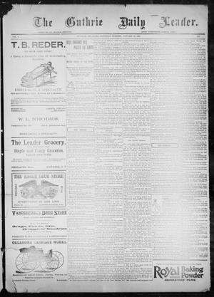 Primary view of object titled 'The Guthrie Daily Leader. (Guthrie, Okla.), Vol. 9, No. 50, Ed. 1, Saturday, January 30, 1897'.