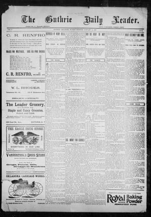 Primary view of object titled 'The Guthrie Daily Leader. (Guthrie, Okla.), Vol. 9, No. 51, Ed. 1, Sunday, January 31, 1897'.