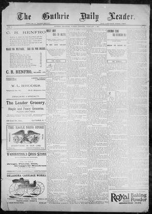 Primary view of object titled 'The Guthrie Daily Leader. (Guthrie, Okla.), Vol. 9, No. 53, Ed. 1, Tuesday, February 2, 1897'.