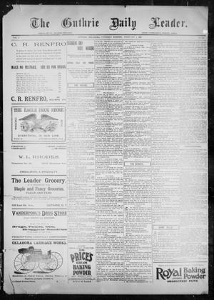 Primary view of object titled 'The Guthrie Daily Leader. (Guthrie, Okla.), Vol. 9, No. 55, Ed. 1, Thursday, February 4, 1897'.