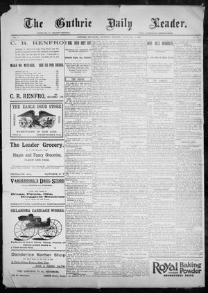 Primary view of object titled 'The Guthrie Daily Leader. (Guthrie, Okla.), Vol. 9, No. 61, Ed. 1, Thursday, February 11, 1897'.