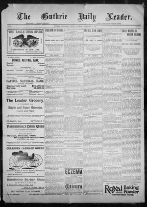 Primary view of object titled 'The Guthrie Daily Leader. (Guthrie, Okla.), Vol. 9, No. 62, Ed. 1, Friday, February 12, 1897'.