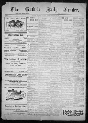 Primary view of object titled 'The Guthrie Daily Leader. (Guthrie, Okla.), Vol. 9, No. 63, Ed. 1, Saturday, February 13, 1897'.