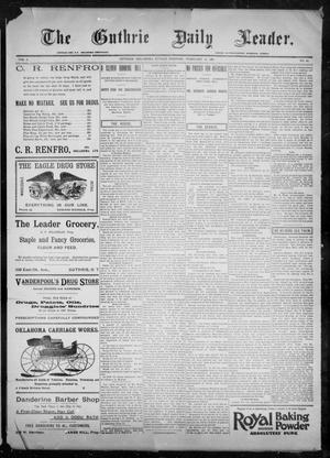 Primary view of object titled 'The Guthrie Daily Leader. (Guthrie, Okla.), Vol. 9, No. 64, Ed. 1, Sunday, February 14, 1897'.