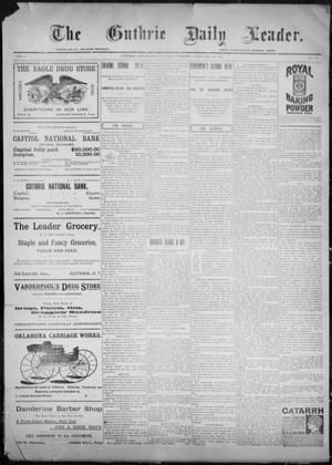 Primary view of object titled 'The Guthrie Daily Leader. (Guthrie, Okla.), Vol. 9, No. 69, Ed. 1, Saturday, February 20, 1897'.