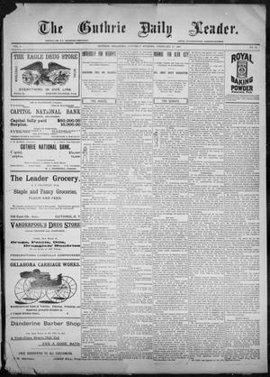 Primary view of object titled 'The Guthrie Daily Leader. (Guthrie, Okla.), Vol. 9, No. 74, Ed. 1, Saturday, February 27, 1897'.