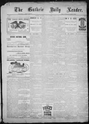 Primary view of object titled 'The Guthrie Daily Leader. (Guthrie, Okla.), Vol. 9, No. 85, Ed. 1, Friday, March 12, 1897'.