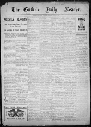 Primary view of object titled 'The Guthrie Daily Leader. (Guthrie, Okla.), Vol. 9, No. 86, Ed. 1, Saturday, March 13, 1897'.