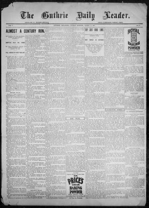 Primary view of object titled 'The Guthrie Daily Leader. (Guthrie, Okla.), Vol. 9, No. 87, Ed. 1, Sunday, March 14, 1897'.