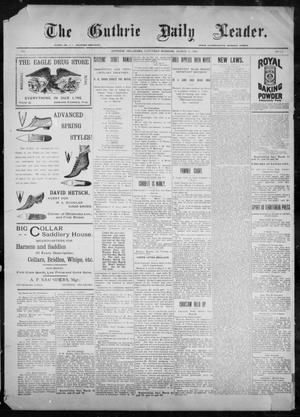 Primary view of object titled 'The Guthrie Daily Leader. (Guthrie, Okla.), Vol. 9, No. 29, Ed. 1, Saturday, March 20, 1897'.