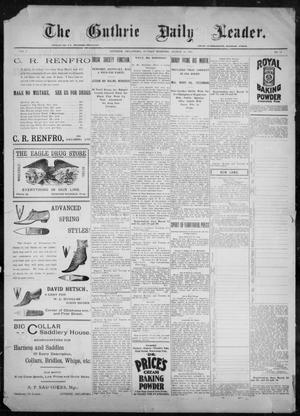 Primary view of object titled 'The Guthrie Daily Leader. (Guthrie, Okla.), Vol. 9, No. 93, Ed. 1, Sunday, March 21, 1897'.