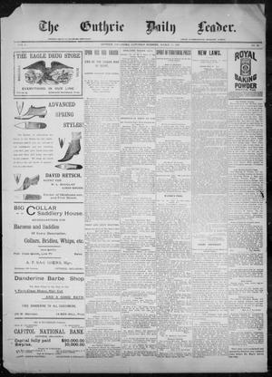 The Guthrie Daily Leader. (Guthrie, Okla.), Vol. 9, No. 98, Ed. 1, Saturday, March 27, 1897
