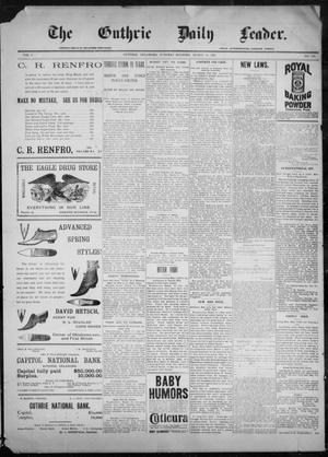 Primary view of object titled 'The Guthrie Daily Leader. (Guthrie, Okla.), Vol. 9, No. 100, Ed. 1, Tuesday, March 30, 1897'.