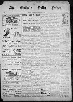 The Guthrie Daily Leader. (Guthrie, Okla.), Vol. 9, No. 109, Ed. 1, Saturday, April 10, 1897