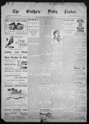 The Guthrie Daily Leader. (Guthrie, Okla.), Vol. 9, No. 111, Ed. 1, Tuesday, April 13, 1897
