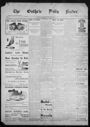 Primary view of object titled 'The Guthrie Daily Leader. (Guthrie, Okla.), Vol. 9, No. 112, Ed. 1, Wednesday, April 14, 1897'.