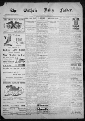 Primary view of object titled 'The Guthrie Daily Leader. (Guthrie, Okla.), Vol. 9, No. 113, Ed. 1, Thursday, April 15, 1897'.