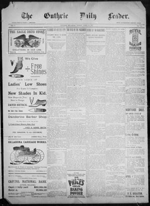 Primary view of object titled 'The Guthrie Daily Leader. (Guthrie, Okla.), Vol. 9, No. 114, Ed. 1, Friday, April 16, 1897'.