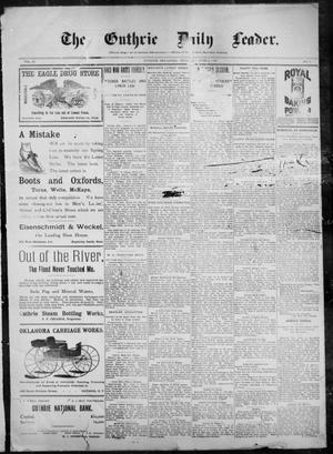 Primary view of object titled 'The Guthrie Daily Leader. (Guthrie, Okla.), Vol. 10, No. 3, Ed. 1, Thursday, June 3, 1897'.