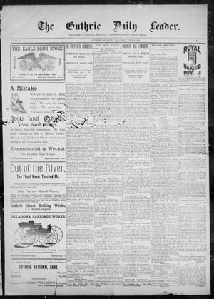 Primary view of object titled 'The Guthrie Daily Leader. (Guthrie, Okla.), Vol. 10, No. 5, Ed. 1, Saturday, June 5, 1897'.