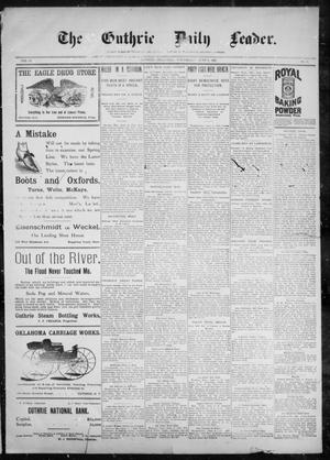 Primary view of object titled 'The Guthrie Daily Leader. (Guthrie, Okla.), Vol. 10, No. 8, Ed. 1, Wednesday, June 9, 1897'.