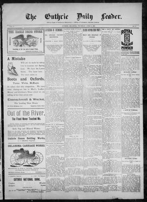Primary view of object titled 'The Guthrie Daily Leader. (Guthrie, Okla.), Vol. 10, No. 9, Ed. 1, Thursday, June 10, 1897'.