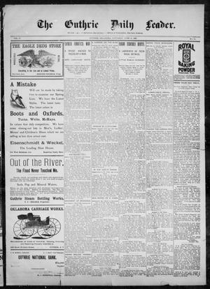 Primary view of object titled 'The Guthrie Daily Leader. (Guthrie, Okla.), Vol. 10, No. 11, Ed. 1, Saturday, June 12, 1897'.