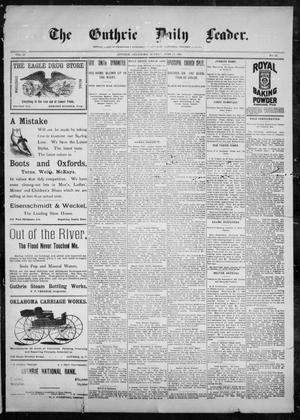 Primary view of object titled 'The Guthrie Daily Leader. (Guthrie, Okla.), Vol. 10, No. 12, Ed. 1, Sunday, June 13, 1897'.