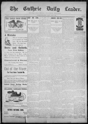 Primary view of object titled 'The Guthrie Daily Leader. (Guthrie, Okla.), Vol. 10, No. 18, Ed. 1, Sunday, June 20, 1897'.