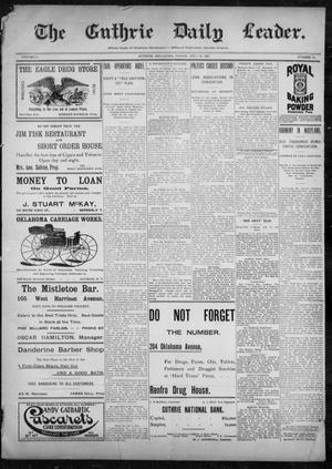 Primary view of object titled 'The Guthrie Daily Leader. (Guthrie, Okla.), Vol. 10, No. 51, Ed. 1, Friday, July 30, 1897'.