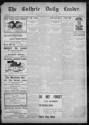 Primary view of object titled 'The Guthrie Daily Leader. (Guthrie, Okla.), Vol. 10, No. 58, Ed. 1, Saturday, August 7, 1897'.