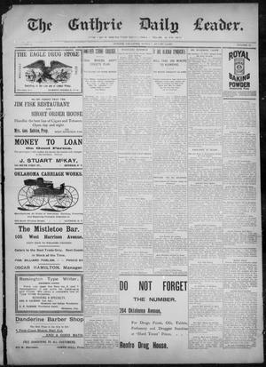 Primary view of object titled 'The Guthrie Daily Leader. (Guthrie, Okla.), Vol. 10, No. 59, Ed. 1, Sunday, August 8, 1897'.