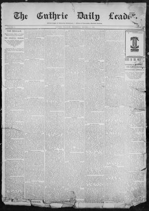 Primary view of object titled 'The Guthrie Daily Leader. (Guthrie, Okla.), Vol. 11, No. 7, Ed. 1, Wednesday, December 8, 1897'.