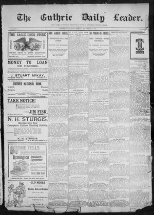 Primary view of object titled 'The Guthrie Daily Leader. (Guthrie, Okla.), Vol. 11, No. 11, Ed. 1, Sunday, December 12, 1897'.