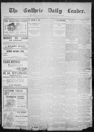 Primary view of object titled 'The Guthrie Daily Leader. (Guthrie, Okla.), Vol. 11, No. 17, Ed. 1, Sunday, December 19, 1897'.